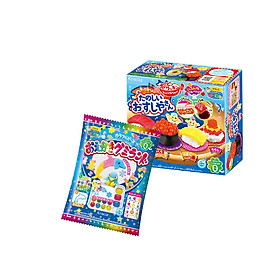 Combo 2 hộp kẹo Popin Cookin đồ chơi ăn được gồm: Thế Giới Sắc Màu + Sushi/ Cơm Bento/ Bánh Donut