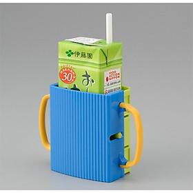 Khay đựng bình sữa chống bóp tràn (màu xanh) - Hàng nội địa Nhật