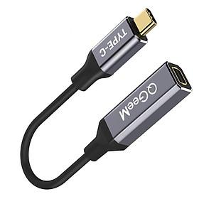 Cáp chuyển cổng QGeeM USB Type C 3.1 sang Mini-DP Female 4K 60HZ HDTV cho Macbook, Samsung S8-Hàng Chính Hãng