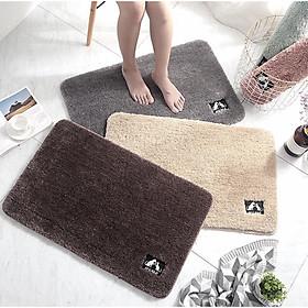 Thảm chùi chân thảm trang trí để cửa phòng, cửa nhà vệ sinh, thảm lót chân màu trơn chất liệu cao cấp