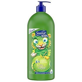 Gội xả tắm Suave Kids 3in1 hương táo xanh Shampoo + Conditioner + Body Wash 1.18 lít