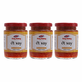 3 Hũ Ớt Tươi Xay Sông Hương Foods Hũ 390g