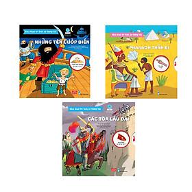 Combo 3 quyển Bách khoa tri thức đa tương tác : Những tên cướp biển + Pharaoh thần bí + Tòa lâu đài