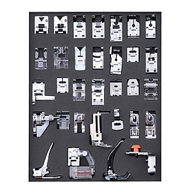 32 Pcs Sewing Machine Presser Feet Set, Professional Sewing Crafting Presser Foot Feet for Janome Brother Singer Sewing