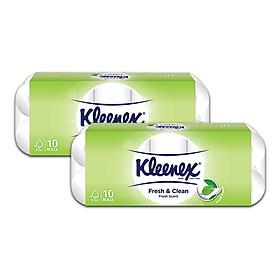 Combo 2 Giấy cuộn Kleenex 220 tờ x 10 cuộn