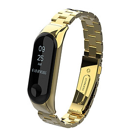 〖Follure〗Luxury Stainless Steel Wrist Strap Metal Wristband For Xiaomi Mi Band 3 Watch