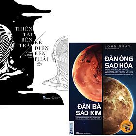 Combo 2 Cuốn Văn Học Tiểu Thuyết Kinh Điển :  Thiên Tài Bên Trái, Kẻ Điên Bên Phải + Đàn Ông Sao Hỏa Đàn Bà Sao Kim (Kỹ Năng Sống Hay)