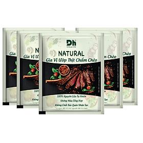 Combo 5 gói Natural Gia vị Ướp Thịt Chẩm Chéo 10gr Dh Foods