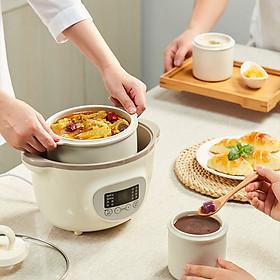 Nồi nấu cháo cho bé ninh hầm cách thuỷ 1.6L có thể vừa nấu vừa hấp củ quả - Hàng nhập khẩu