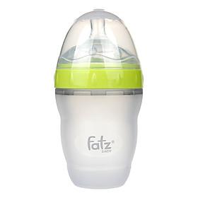 Bình Sữa Silicon Cổ Siêu Rộng 180ml Fatzbaby FB0180C