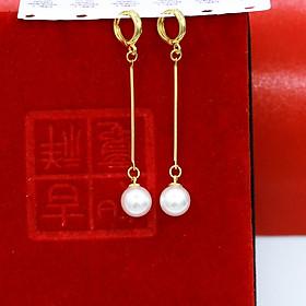 Khuyên Tai, Bông Tai, Hoa Tai Nữ Dáng Dài Xi Mạ Vàng Cao Cấp 24k - Trang Sức Hava Hong Kong - HVBT30
