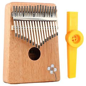 Đàn Kalimba 17 Phím Gỗ Mahogany Yael Y17M-AF - Hoa Táo Kèm Kèn Kazoo