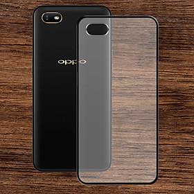 Ốp lưng Oppo A1K - Bề mặt nhám chống vân tay, lưng cứng, viền TPU dẻo - 02126 - Hàng Chính Hãng