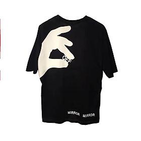 Áo thun oversize nam nữ off white Finger 2020 chất liệu vải tốt cotton M L XL màu đỏ Trumunisex