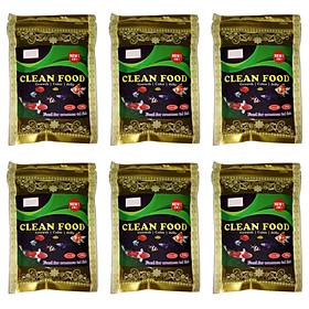 COMBO 6 Gói Thức Ăn Cho Cá CLEAN FOOD, Giàu Dinh Dưỡng, Giúp Cá Lớn Nhanh, Lên Màu Đẹp ( 100gr/túi)