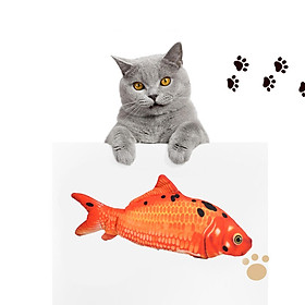 4x Cat Toys Moving Fish Electric Realistic Flopping Wagging Fish Toys