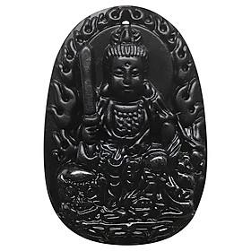 Mặt Dây Chuyền Văn Thù Bồ Tát Đá Obsidian Ngọc Quý Gemstones VTON