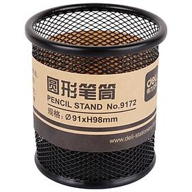 Deli 9172 metal reticulated circular pen holder