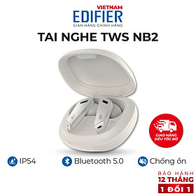 Tai nghe Bluetooth 5.0 EDIFIER TWS NB2 Âm thanh Stereo Chống nước IP54 - Hàng chính hãng