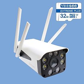 Camera Ip Wifi Ngoài Trời Yoosee GW-218S  Full HD 1080P  Và Thẻ Nhớ Yoosee 32GB