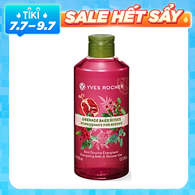Sữa Tắm Yves Rocher Cotton Flower Pomegranate Relaxing Bath & Shower Gel 400ml