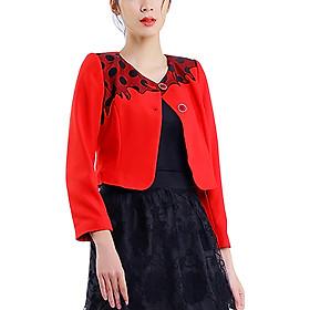 Vest Lửng Thêu Ngực Angeli Phạm VA0216W - Đỏ Đen