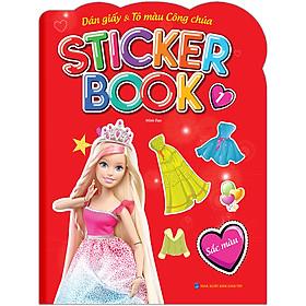 Sticker Book - Giấy Dán & Tô Màu Công Chúa 1 - Sắc Màu (Tặng Kèm 4 Trang Sticker Dán Hình)