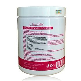Dầu hấp ủ tóc Caluo.Ber Collagen Hair Spa Treatment siêu phục hồi mềm mượt tóc Pháp 1500ml-1