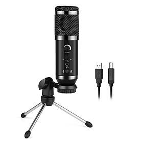 Bộ ngưng tụ USB Micrô có dây Cardioid Pickup Mẫu Mic để phát trực tiếp Karaoke Chơi game Học tập trực tuyến Ghi âm