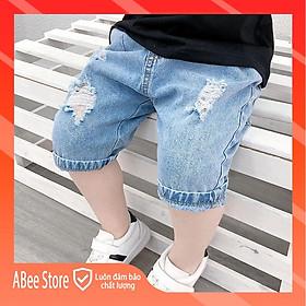 Quần Ngố Cho Bé Trai Bé Gái Hàn Quốc, Quần Short Jean Trẻ Em  Từ 0 Đến 6 Tuổi Abee Store Size 8-25kg QS4