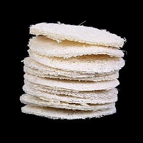 10PCS Natural Loofah Sponge Bath Rub Exfoliate Bath Glove Oval Bath Towel