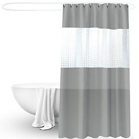 Rèm phòng tắm cao cấp 3D 180x200cm (Xám)