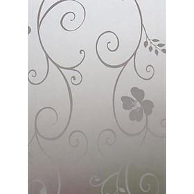 Miếng Dán Mờ Hình Hoa Trang Trí Cửa Kính (45 x 100cm)