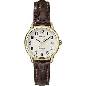 Timex Women Quartz Easy Reader Watch with Analogue Display and Leather Strap