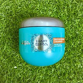 Dầu hấp ủ tóc nuôi dưỡng suôn mượt L'oreal Hair Spa Deep Nourishing Creambath 500ml-1