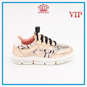 Giày Thể Thao Sneaker Bé Trai Bé Gái Đi Học Cổ Thấp Crown Space UK Active Trẻ em Cao Cấp CRUK251 Siêu Nhẹ Êm Size 28-36/4-14 Tuổi