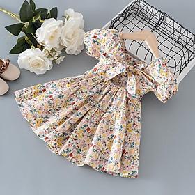 Váy Bé Gái Dáng Xòe Cổ Thun Tiểu Thư - Babi mama