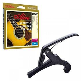 Combo dây đàn guitar acoustic Alice AW432+ Capo guitar(SOL.G)