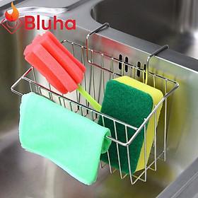Kệ Để Đồ Rửa Chén Gắn Thành Bồn Chậu Rửa Chén Inox 304 - Giá để giẻ rửa bát Tiện dụng, Chống Nước Chống Gỉ Sét Cao Cấp