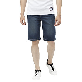 Quần Short Nam Cotton Jeans Slimfit Vĩnh Tiến JEAN 23 - Xanh Đậm