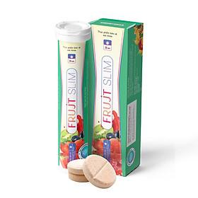 Combo 2 Thực phẩm Viên sủi FRUJT SLIM Hỗ trợ giảm cân dành cho người lớn + Tặng kèm sản phẩm cùng loại
