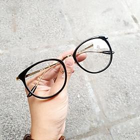 Gọng Kính Cận Mắt Tròn Moss Store Mắt Kính Dáng Trứng Siêu Xinh- 9928