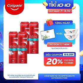 Bộ 4 Kem đánh răng Colgate Plus Shine làm trắng răng & sáng răng 100g