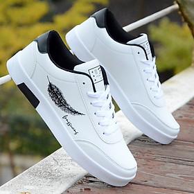 Giày Nam Thể Thao Sneaker Vải Dệt Cực Chất Đế Cao Su Nguyên Khối Siêu Êm Họa Tiết Lông Vũ CTS-GN026-6
