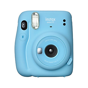 Fujifilm instax mini 11 Instant Camera Film Cam Auto Exposure Control Selfie Mode with Batteries Wrist Strap Birthday