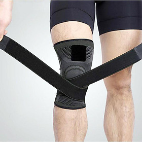 Băng đai bảo vệ đầu gối tập gym dạng ống thoát mồ hôi AK.24-0