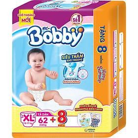 Tã dán Bobby siêu thấm - khô thoáng XL62 [Tặng 8 Miếng Phiên Bản Hè Giới Hạn]-2