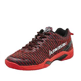 Giày cầu lông nam nữ Kawasaki K525 mẫu mới, êm ái, chống lật cổ chân màu đỏ đủ size