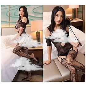 Đồ Ngủ Lưới Xuyên Thấu Tay Lỡ Khoét Đáy Cosplay See Through Body Sexy Lingerie Bodystocking erotic lingerie Nightwear Brave Man Mã BCS21 07 8013