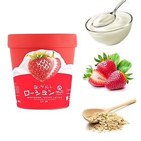Combo 2 hũ Kem Dưỡng Thể Trắng Da Hasi Chiết xuất Sữa Chua & Dâu - Whitening Yogurt Lotion With Strawberry & Oat Extract
